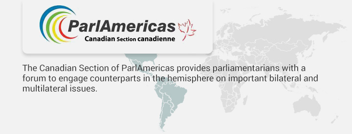 CPAM logo, The Canadian Section of ParlAmericas provides parliamentarians with a forum to engage counterparts in the hemisphere on important bilateral and multilateral issues.