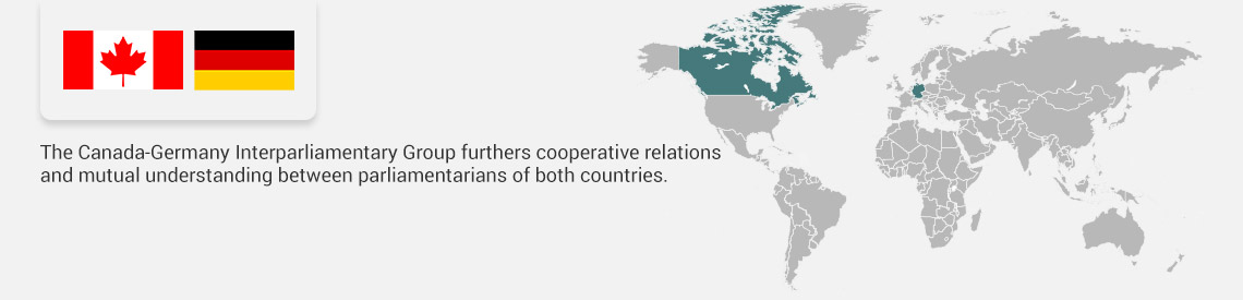 The Canada-Germany Interparliamentary Group furthers cooperative relations and mutual understanding between parliamentarians of both countries.