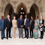 Eight parliamentary officers from five countries attending POSP to learn about the functioning of the Canadian Parliament